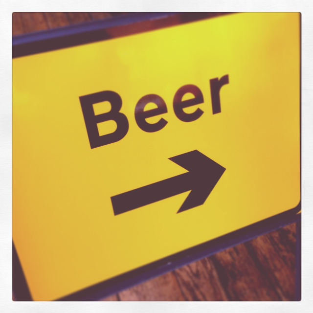 beer road sign